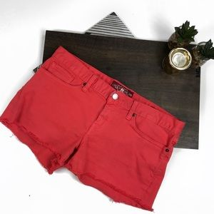 Lucky Brand Riley Coral Cut Off Shorts #615
